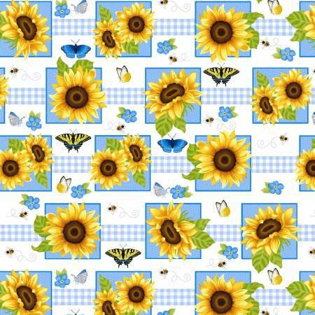 Sunny Sunflowers Multi Sunflower Squares