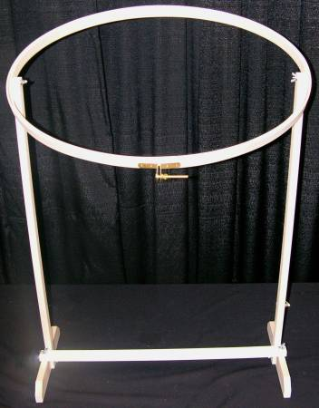 Quilting  / Embroidery Hoop Wood 16in x 27in Oval With Stand