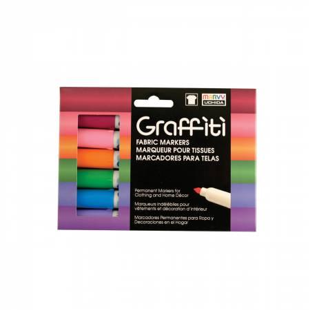 Graffiti Fabric Marker 6 Pen Floral