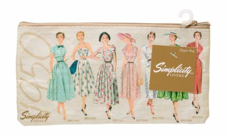 Vintage 1950 Plastic Zip Pouch