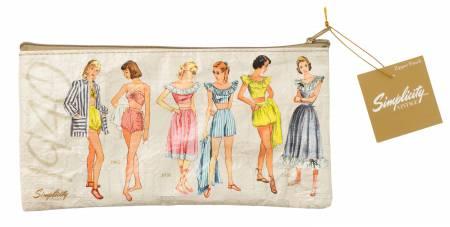 1940s Plastic Zipper Pouch