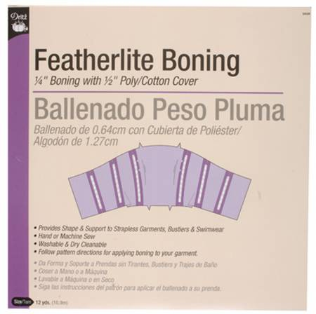 Boning by the Yard Featherlite 1/4in White