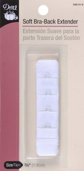 Bra Back Extender - 3/4, 1-Hook, White