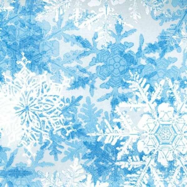 Powder Blue Snowflakes Glitter