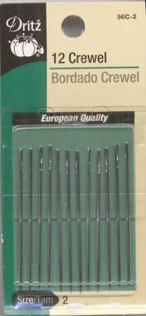Dritz Crewel Needles - Size 2 - 12ct