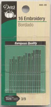 Embroidery Needles Sizes 3/9 16 ct