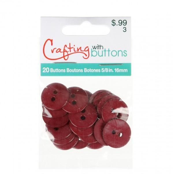 Colors By Favorite Findings Button Bag Burgundy