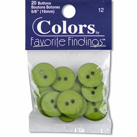 Button Bag Fern  - 20pc