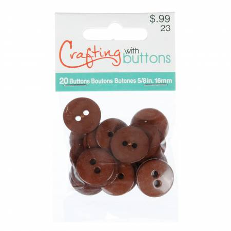 Crafting with Buttons Bag Brown