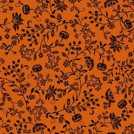 Spooky Night Orange Pumpkin Vines 5725S-33