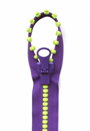 57671-110 Zipper Jelly Bead 31in Purple Kiwi