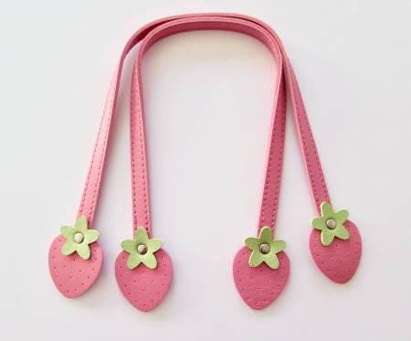 Strawberry Handles, Med (16) pink