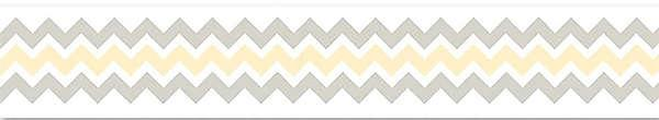 Ribbon-Jumbo Chevron Yellow 1 Capri Gray by Adornit