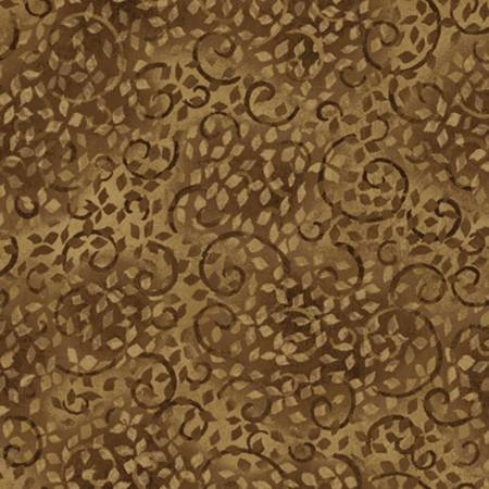 Essentials 108Backing<br>Brown Vines Scroll 5979-222