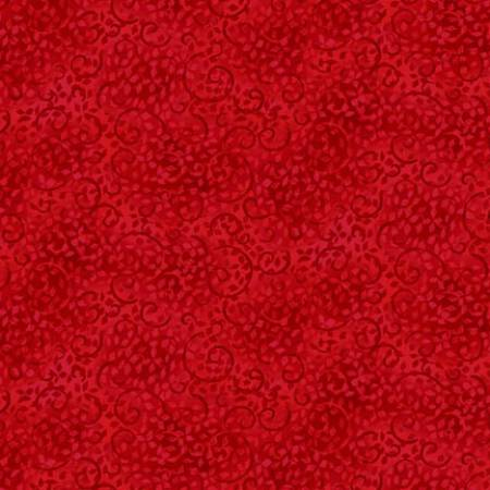 Red Viney Scroll Fabric - 108' Must Take All 6yds.
