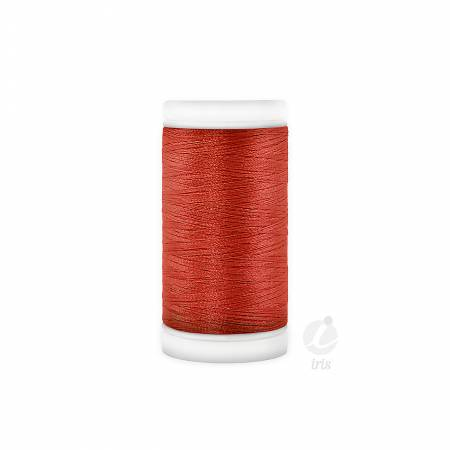 Iris Polyester Machine Embroidery Thread 600yd Military Red
