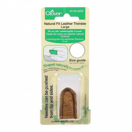 Natural Fit Leather Thimble Large