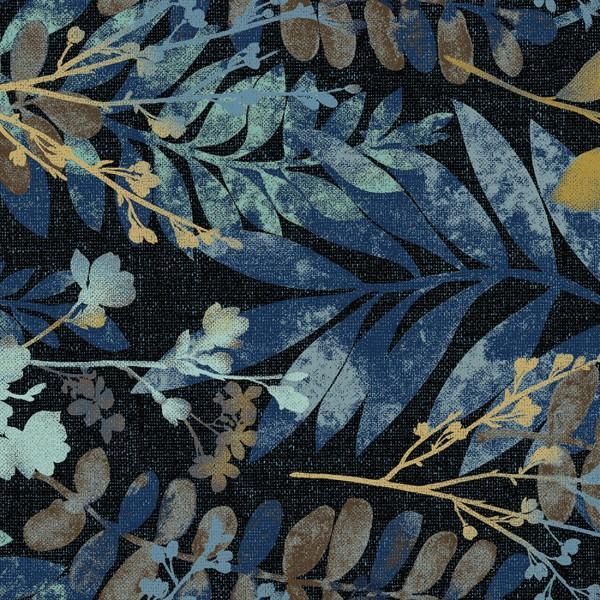 Midnight Fernwood Leaves