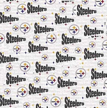 White Pittsburgh Steelers Cotton 60in