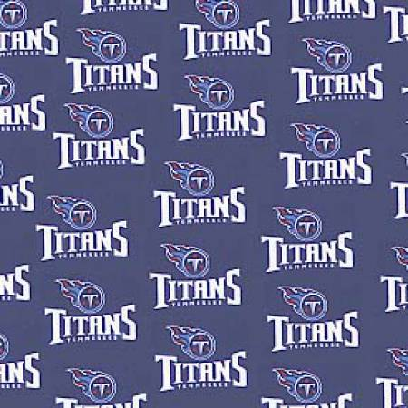 Blue Tennessee Titans Cotton 58 wide