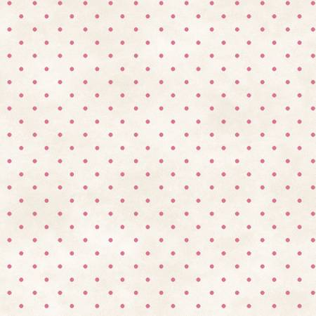 Fabric Maywood Natural/Pink Classic Dot