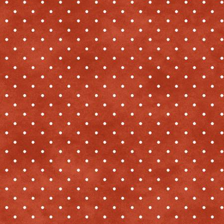 Fabric Maywood Orange Red Classic Dot