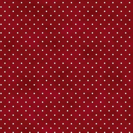 Fabric Maywood Red Classic Dot