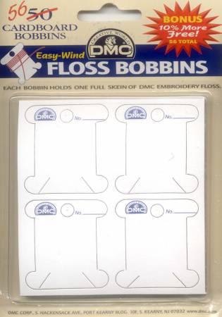 Cardboard Floss Bobbins 56ct