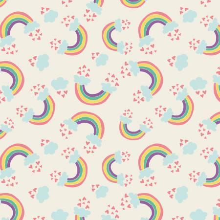 I Believe In Unicorns Cream Rainbows & Hearts