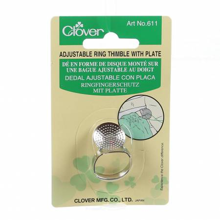Clover Adjustable Thimble with Metal Plate