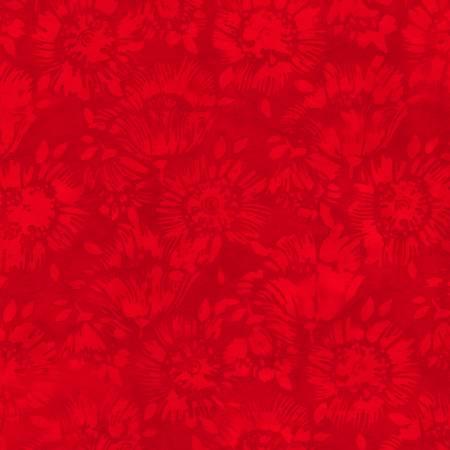 108in Wide Batik  -  611Q Red