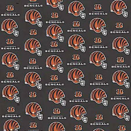 Black Cincinnati Bengals Cotton 60in