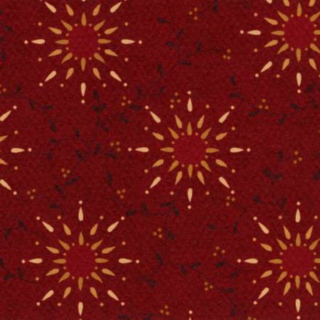 6235-88 Red Prairie Vine 108in Wide