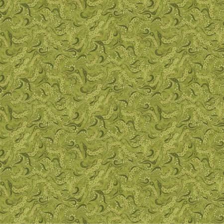 Green Holey Scrolls w/Metallic