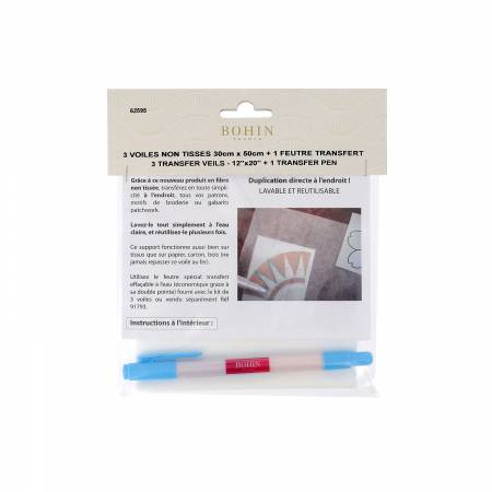 Veil Transfer Mesh 12in x 20in With Water Soluble Transfer Pen