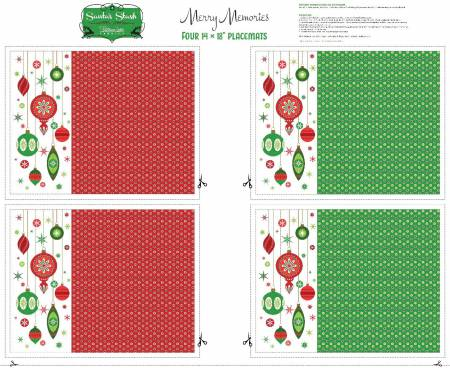 Patrick Lose Merry Memories Placemats (4 placemats + backing + binding)