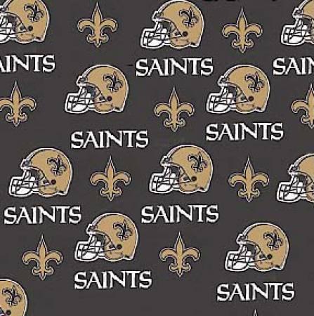 NFL New Orleans Saints 6283-D Black Cotton 60 in