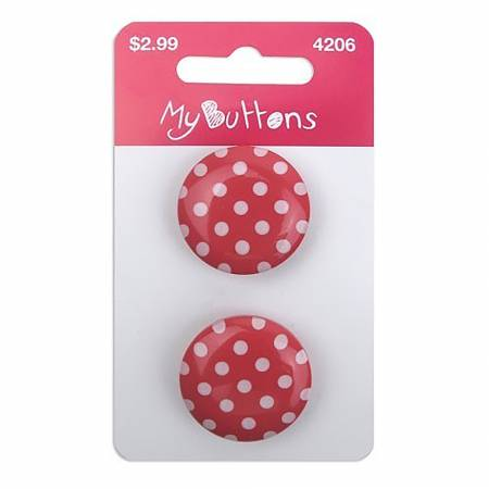 My Buttons Dots Cherry 22mm