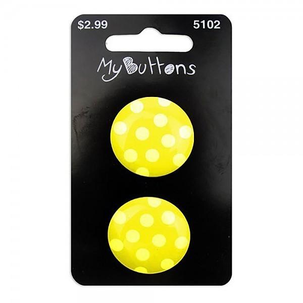 My Buttons Polka Dots Lime 22mm