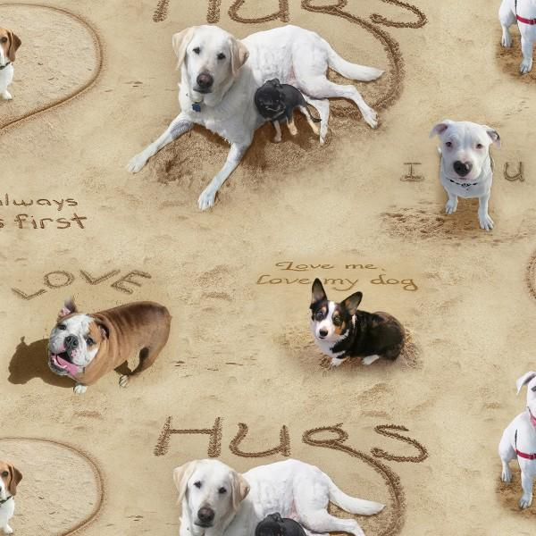 Sand Scribbles -  Puppy Love All Over - 6304E-SAND