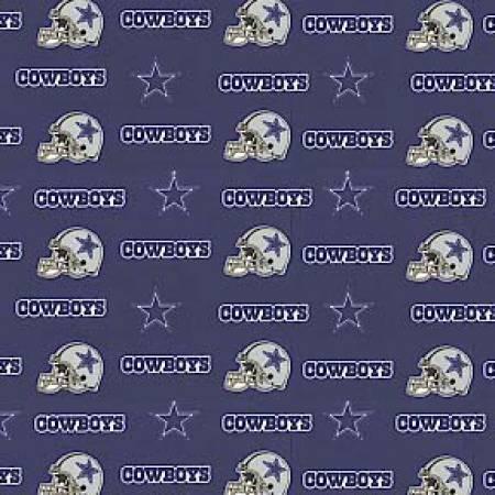NFL Dallas Cowboys 6313-D Navy Cotton 60 in