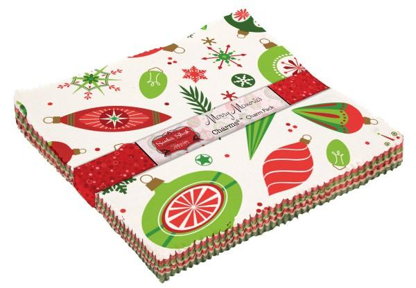 5in Squares Santa's Stash Memories 42pcs/bundle, 3 bundles per pack