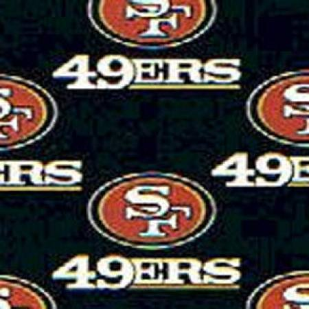 Black San Francisco 49ers Cotton 58in