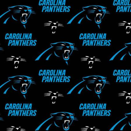 Black NFL Carolina Panthers Cotton 58 wide