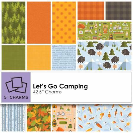 5in Squares Let's Go Camping 42pcs/bundle, 3 bundles per pack