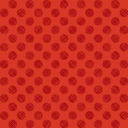 Red Linen Dots Sketch