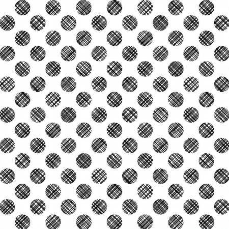 White Linen Dots