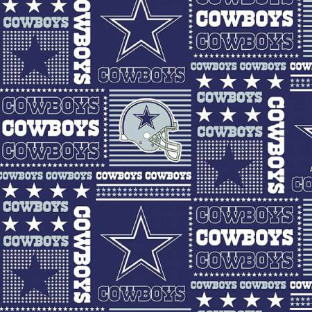 NFL Cotton - Dallas Cowboys Patchwork 58in - By Fabric Traditions