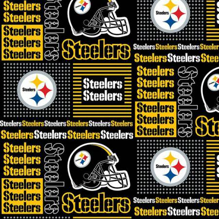 NFL Pittsburg Steelers Patchwork Cotton 60in