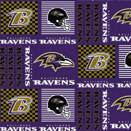 NFL Baltimore Ravens Patchwork Cotton 60in